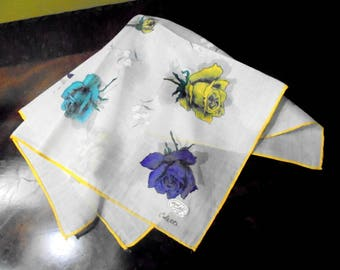 Colette Handkerchief Hand Painted Colette Designer Handkerchief Original label