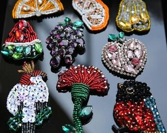3-4pcs 4-8cm wide Rhinestones beads stones clothes dress appliques patch brooch D35E185L0512 free ship