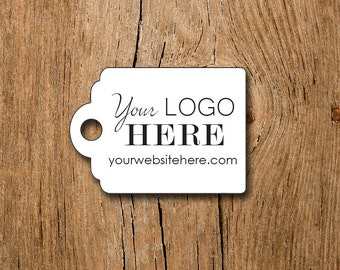"""Custom Price Tags - 1""""x1.4"""" Personalized with Logo Text - Jewelry Tags - Price Tags - Hang Tags"""