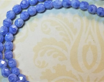 SALE gorgeous blue Czech glass 50 pieces 2mm