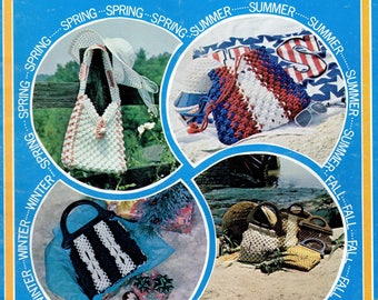 Vintage For Every Purse There Is A Season Macrame Handbags Patterns Book PDF Instant Download Retro Knots How To Instruction eBook ALL Purse