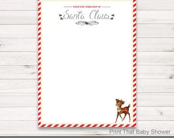 Blank santa sacks etsy santa letterhead vintage christmas style blank letter from santa printable download spiritdancerdesigns Images