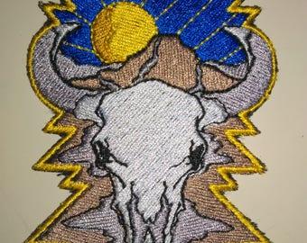 Southwestern Steer Skull patch