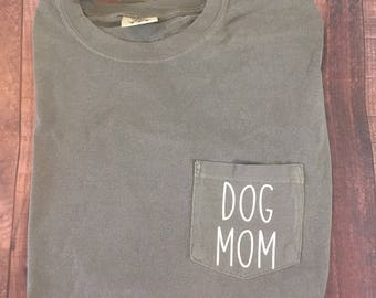 Dog Mom Comfort Colors  LONG SLEEVE shirt, Custom comfort colors, Comfort Colors long sleeve, Dog shirt, Dog shirts, Dog Mom