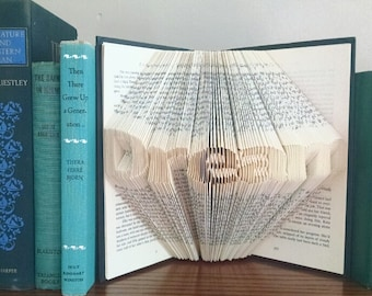 Folded Book Art Featuring the Word Dream - Great Gift for the Book Lover