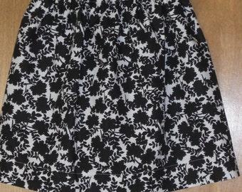 Leaf Silhouette Print Skirt