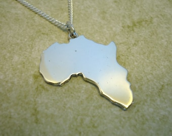 Sterling silver africa pendant with heart choose where you sterling silver africa pendant plain aloadofball Image collections