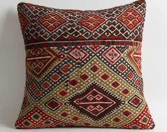 kelim kissen, 16x16 kilim pillow, floor cushion cover, area pillow, kilim, vintage pillows, beautiful pillow, woven pillow, pillow outdoor