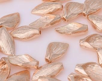 20 Gold Alloy Leafs 1.4*0.8 cm Metal Pendant accessories DIY Handmade 10139405