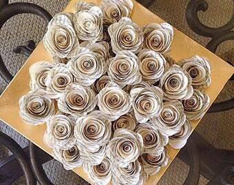 MADE TO ORDER Vintage Loose Paper Flowers Vase Filler Set of 50 Paper Flowers