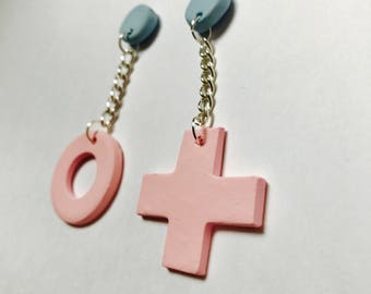 Studded Naughts and Cross Earrings