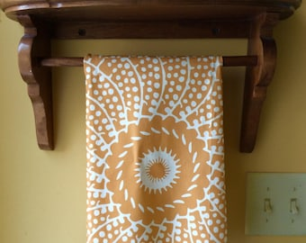 Golden Sunshine linen and cotton tea towel, designed by LFNTextiles