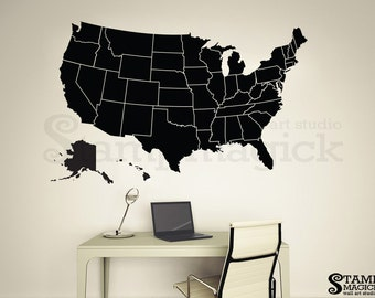 World map wall decal countries border wall art sticker united states map wall decal america wall map borders outlines vinyl chalkboard dry erase gumiabroncs Choice Image