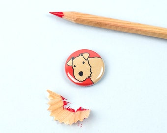 Lakeland Terrier Badge - Lakeland Terrier Button - Dog Breed Badge - Dog Badge - Dog Button - Terrier Badge - Terrier Button