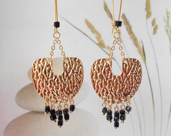 Earrings sleeper metal pendant beads U chic