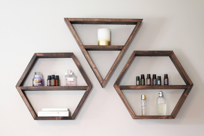 Geometric Shelf Triangle Shelf Hexagon Shelf Shelves