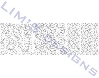 "Three Quilt Patterns N24 machine embroidery designs - 3 sizes 4x4"", 5x5"", 6x6"""