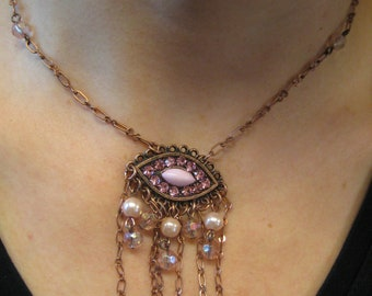 Vintage earring made into necklace