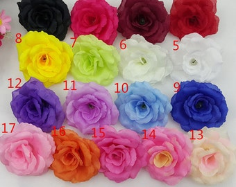 Silk tea rose flower heads peonies heads artificial flower silk rose heads artificial flower heads 3 inch wholesale lot 50 flowers for wedding arrangement kissing mightylinksfo