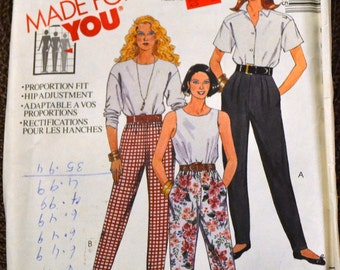 Vintage Sewing Pattern McCall's 6062 Misses' Pants  Waist 30 Inches Complete