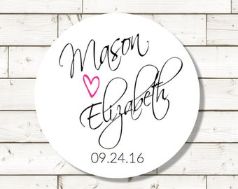 Wedding Favor Sticker-wedding sticker,  sheet of 20, custom- 2 inch circle, white photo gloss label,  wedding announcements, wedding favor