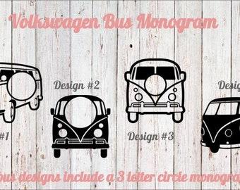 Volkswagen Bus Monogram Decal/Volkswagen Bus Monogram/Volkswagen Monogram/Volkswagen Bus/Volkswagen/Monogram/Bus/Hippie Bus/VW/VW Bus