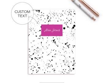 Bullet Journal   Notebook   Personalized   Custom Notebook   Blank   Line   Graph   Bullet   Splatter Notebook