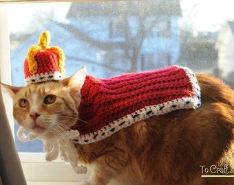 Royal Pet Attire- King Cat- Royal Cat- Costumes for Cats- Pet Costumes- Clothes for Cats