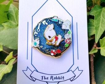 Spinning rabbit hard enamel pin(Blue)