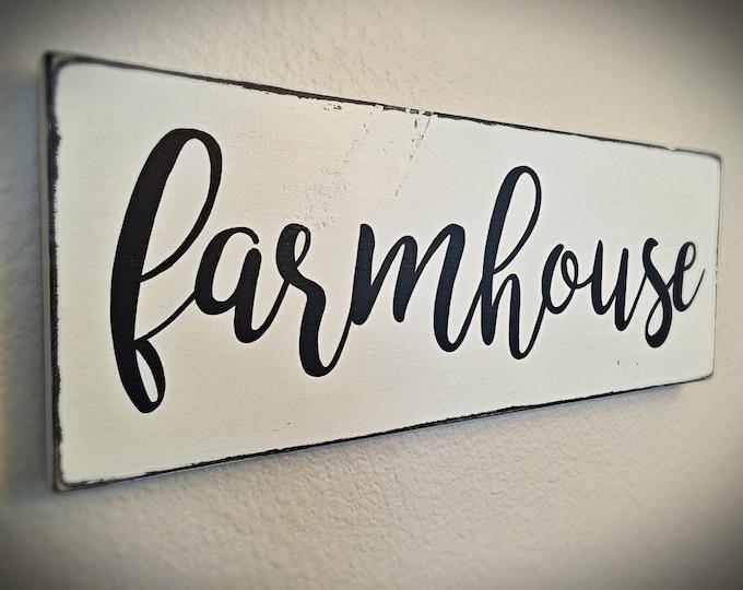 Farmhouse Sign | Black & White Farmhouse Decor, Hand Painted