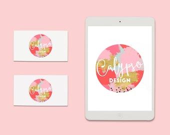 Pre-Made Logo Ready to Add Your Company Name - Style - Calypso - Premade