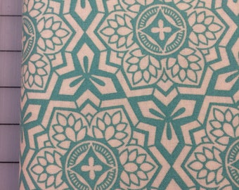 HALF YARD cut of Joel Dewberry - Botanique - Mosaic Bloom in Teal - PWJD087