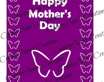 "SVG PNG DXF Eps Ai Wpc Cut file for Silhouette, Cricut, Pazzles, ScanNCut - ""3D Mother's day Card Topper"" svg"
