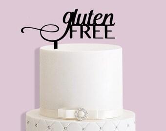 Handmade Gluten Free Cake Topper