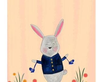 Nursery Bunny Painting