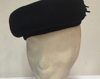 Toller kleiner Hut, Cap, schwarz, vintage