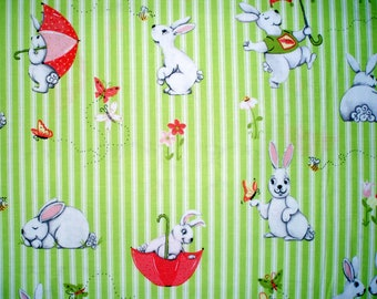 Cotton fabric Bunny and friends by Susybee