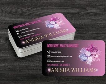 Rounded Corner Business Cards, Custom Designed Business Cards, Full Color Business Cards, Round Business Cards