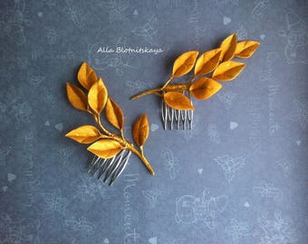 Leaves and Twigs Comb. wedding, festive accessories, Wedding hairstyle, Bridal or Special Occasion Boho Comb, crown, halo, hair piece