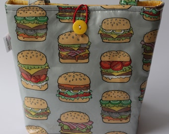 Insulated Lunch Bag - Burgers