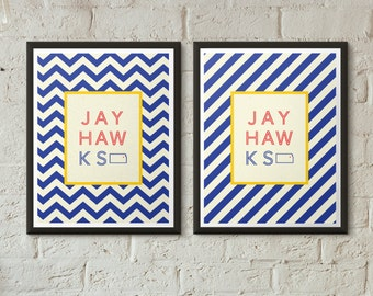 KU Jayhawks We Are Kansas Chevron Typographical Print