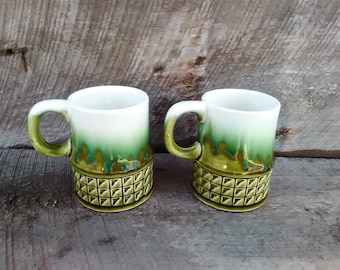 Set of 2 Mid-Century Coffee/ Tea Cups, Made in Japan, Inv.#823