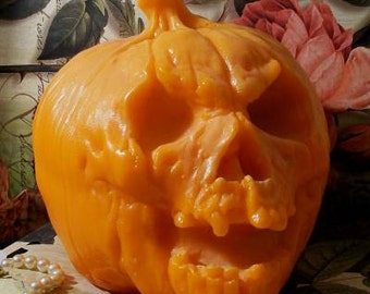 Reserve Listing for D....Beeswax Demon Pumpkin Candle HUGE