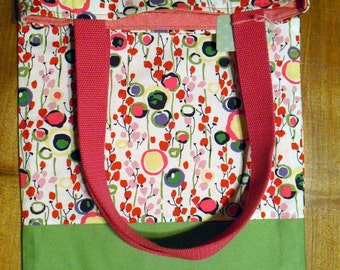 Patterned Tote BookBag Market Bag Carry All Lined Tote