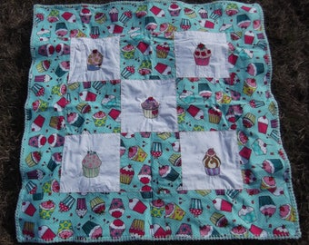 Baby Receiving Blanket with Cupcake Theme