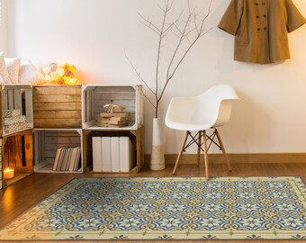 Pvc Floor Mat, Kitchen Vinyl Flooring Tiles, Moroccan Floor Tile, Linoleum  Area Rug