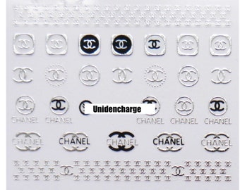 Nail Stickers Brand C Accessory 1 Sheet -Silver