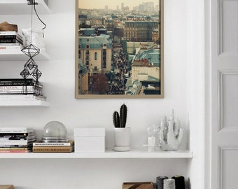 Living Room Print / Paris Rooftops Print / 12x16 wall art / home decor / romantic gift / shabby chic / Paris Photo / Paris Art