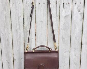 Vintage Coach Brown Leather Willis Bag 9927