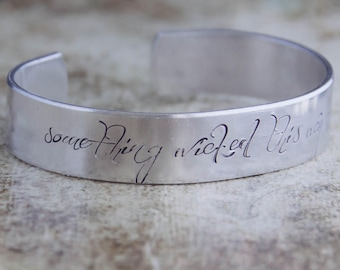 Something Wicked This Way Comes / Shakespeare Jewelry / Shakespeare Bracelet / Macbeth Jewelry / Literary Jewelry / Book Lover's Jewelry